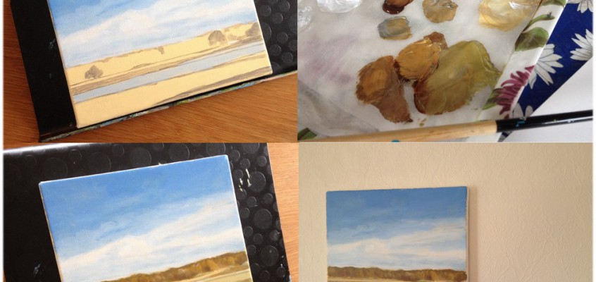 Autumn Landscape: Step by Step Walk Through Showing The Painting Process