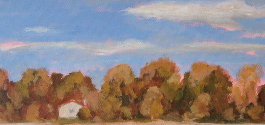 Autumn Home Painting on Canvas