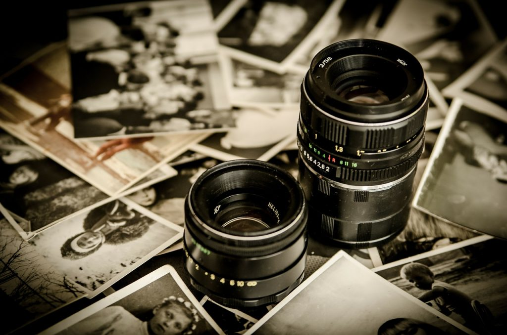 Camera lens and prints - Adrian Colin Doyle